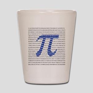 1000 Digits of Pi Shot Glass
