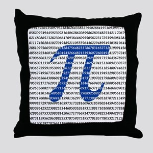 1000 Digits of Pi Throw Pillow