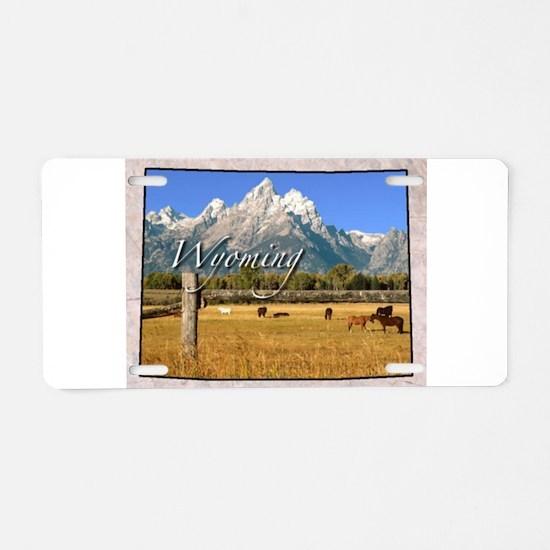 Cute Wyoming Aluminum License Plate