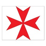 Red Maltese Cross Small Poster