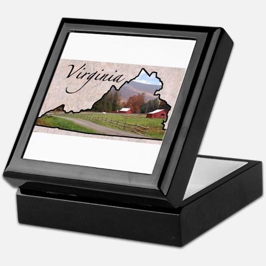 Cute Virginia Keepsake Box