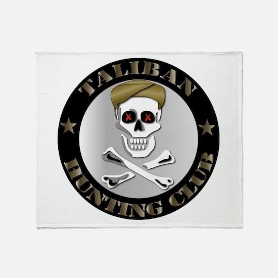 Emblem - Taliban Hunting Club Throw Blanket