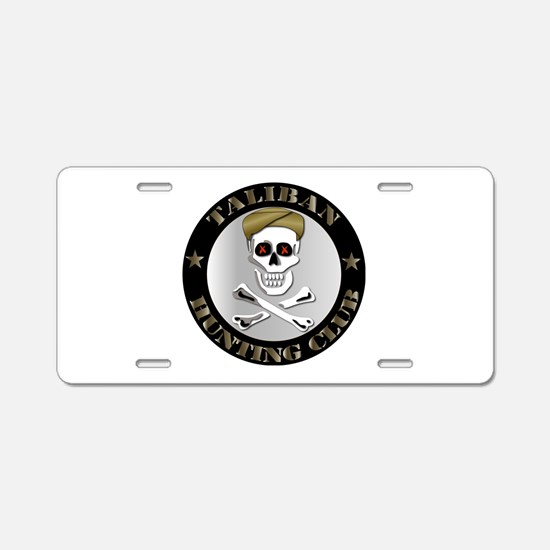 Emblem - Taliban Hunting Club Aluminum License Pla