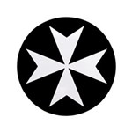 White Maltese Cross 3.5
