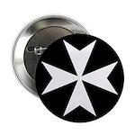 White Maltese Cross 2.25