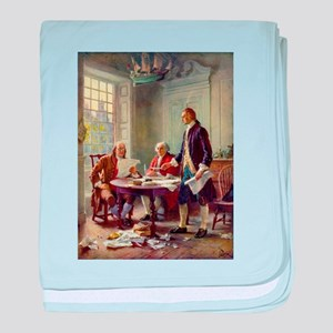 Founding Fathers baby blanket