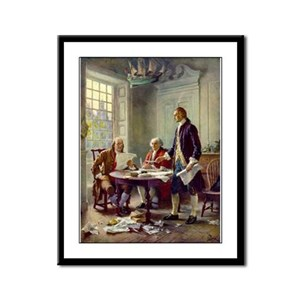 Founding Fathers Framed Panel Print