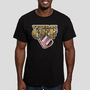 Veteran OEF Men's Fitted T-Shirt (dark)
