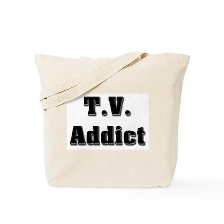 Television Addict Tote Bag