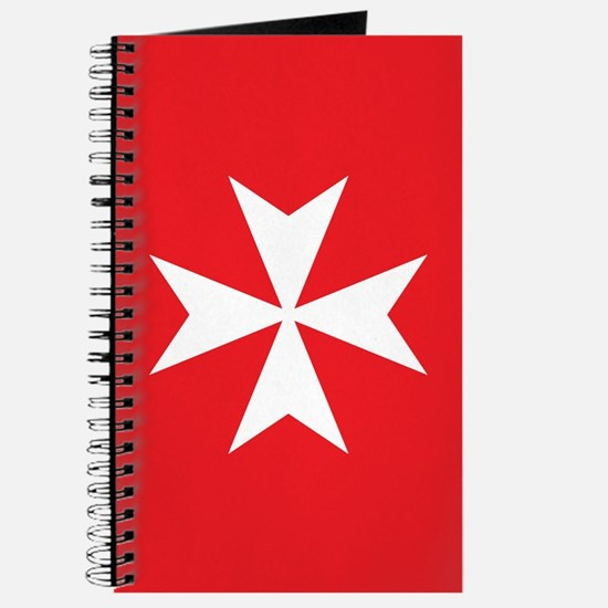 White Maltese Cross Journal