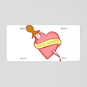 Tattoo Heart Aluminum License Plate