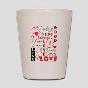 Love WordsHearts Shot Glass