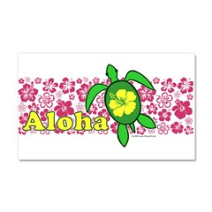 Aloha Hawaii Turtle Car Magnet 20 x 12