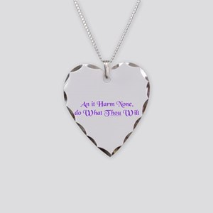 Wiccan Rede Necklace Heart Charm