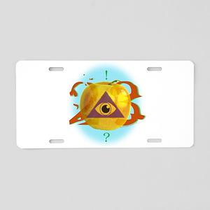 Illuminati Golden Apple Aluminum License Plate