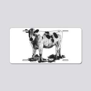 Spotted Cow Aluminum License Plate