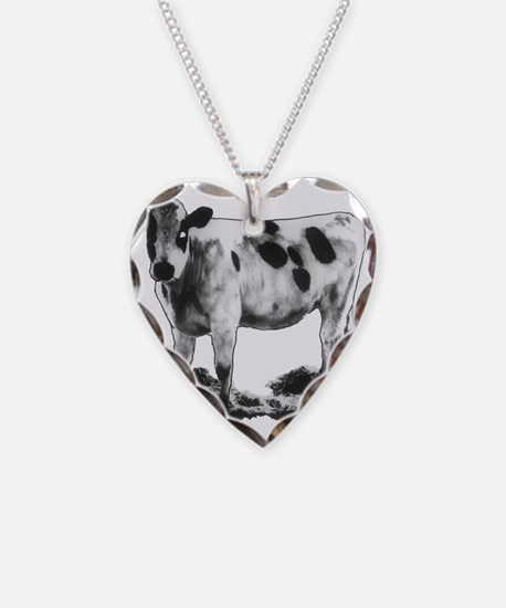 Spotted Cow Necklace
