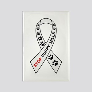 Stop Puppy Mills Ribbon Rectangle Magnet