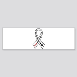 Stop Puppy Mills Ribbon Sticker (Bumper)