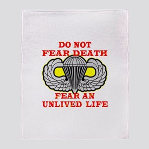 Airborne; Do Not Fear Death Throw Blanket