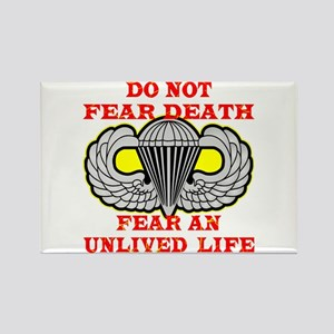 Airborne; Do Not Fear Death Rectangle Magnet