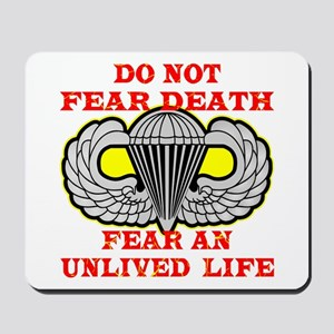 Airborne; Do Not Fear Death Mousepad