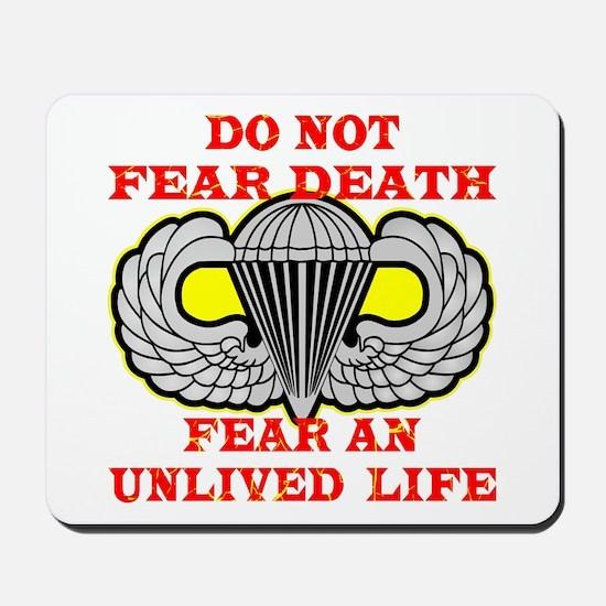 Airborne; Do Not Fear Death Mousepad