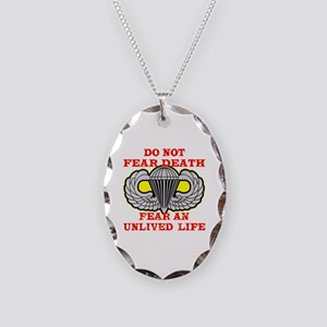 Airborne; Do Not Fear Death Necklace Oval Charm