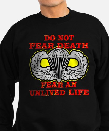 Airborne; Do Not Fear Death Sweatshirt (dark)
