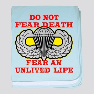 Airborne; Do Not Fear Death baby blanket