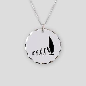 Evolution windsurfing Necklace Circle Charm