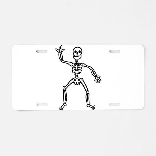 ILY Skeleton Aluminum License Plate