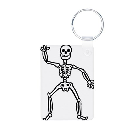 ILY Skeleton Aluminum Photo Keychain
