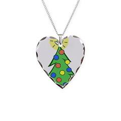 ILY Christmas Tree Necklace