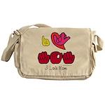 I-L-Y Mom Messenger Bag