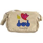 I-L-Y Dad Messenger Bag