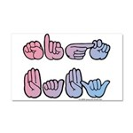 PinkBlue SIGN BABY SQ Car Magnet 20 x 12
