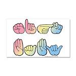 Pastel SIGN BABY SQ Car Magnet 20 x 12