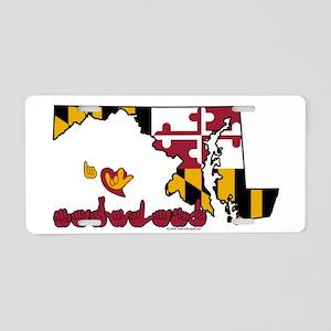 ILY Maryland Aluminum License Plate