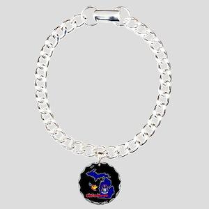 ILY Michigan Charm Bracelet, One Charm