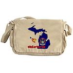 ILY Michigan Messenger Bag
