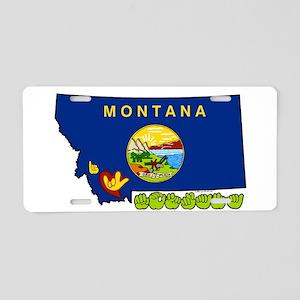 ILY Montana Aluminum License Plate