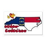 ILY North Carolina Car Magnet 20 x 12