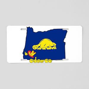 ILY Oregon Aluminum License Plate