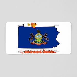 ILY Pennsylvania Aluminum License Plate