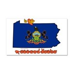 ILY Pennsylvania Car Magnet 20 x 12
