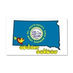 ILY South Dakota Car Magnet 20 x 12