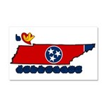 ILY Tennessee Car Magnet 20 x 12