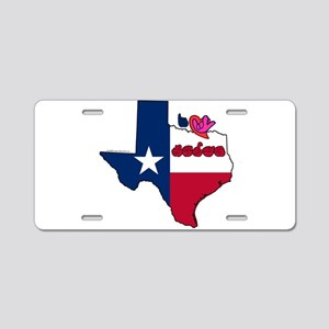 ILY Texas Aluminum License Plate