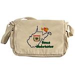 ILY West Virginia Messenger Bag